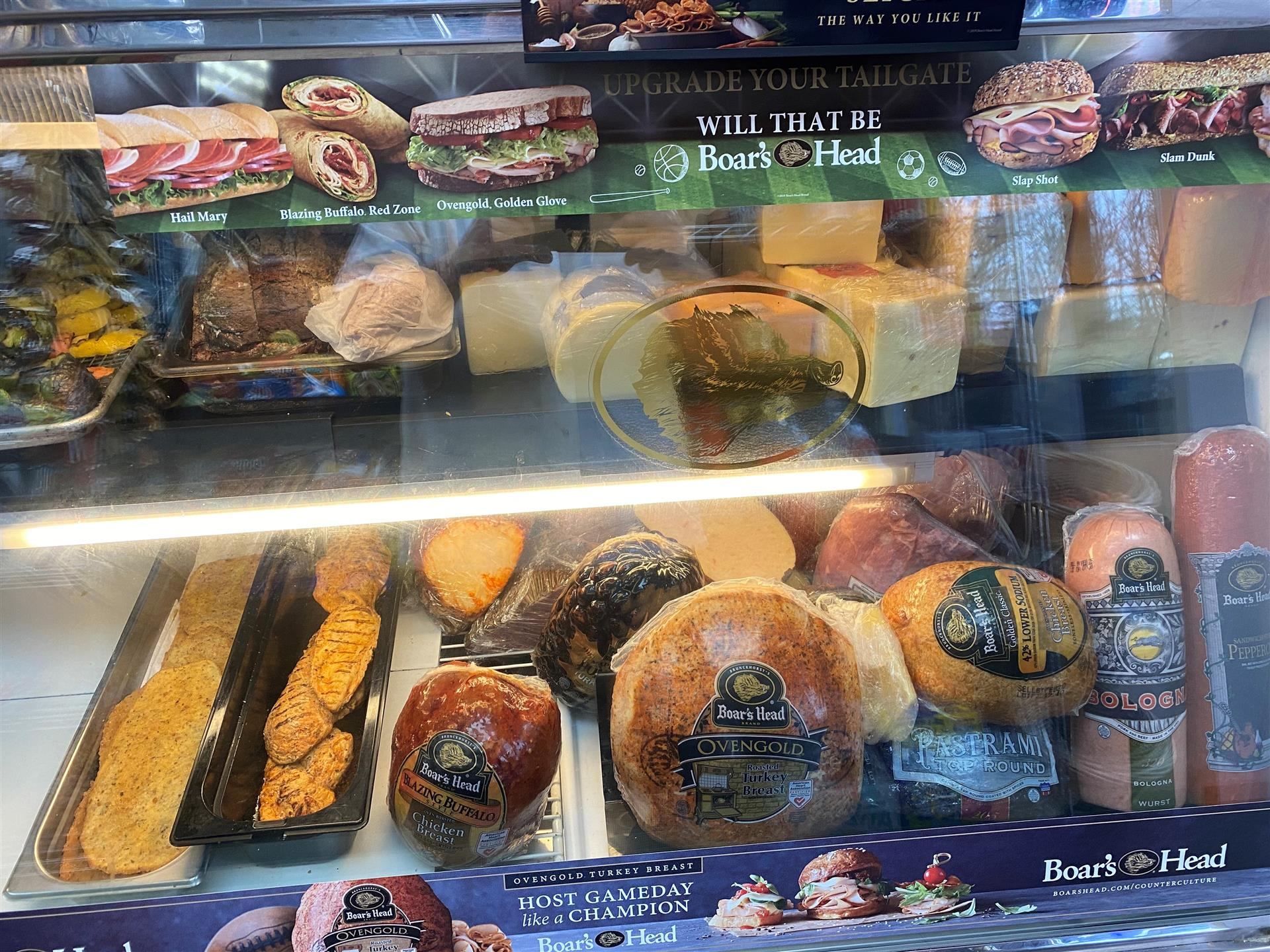 Boar's Head deli meats and cheese