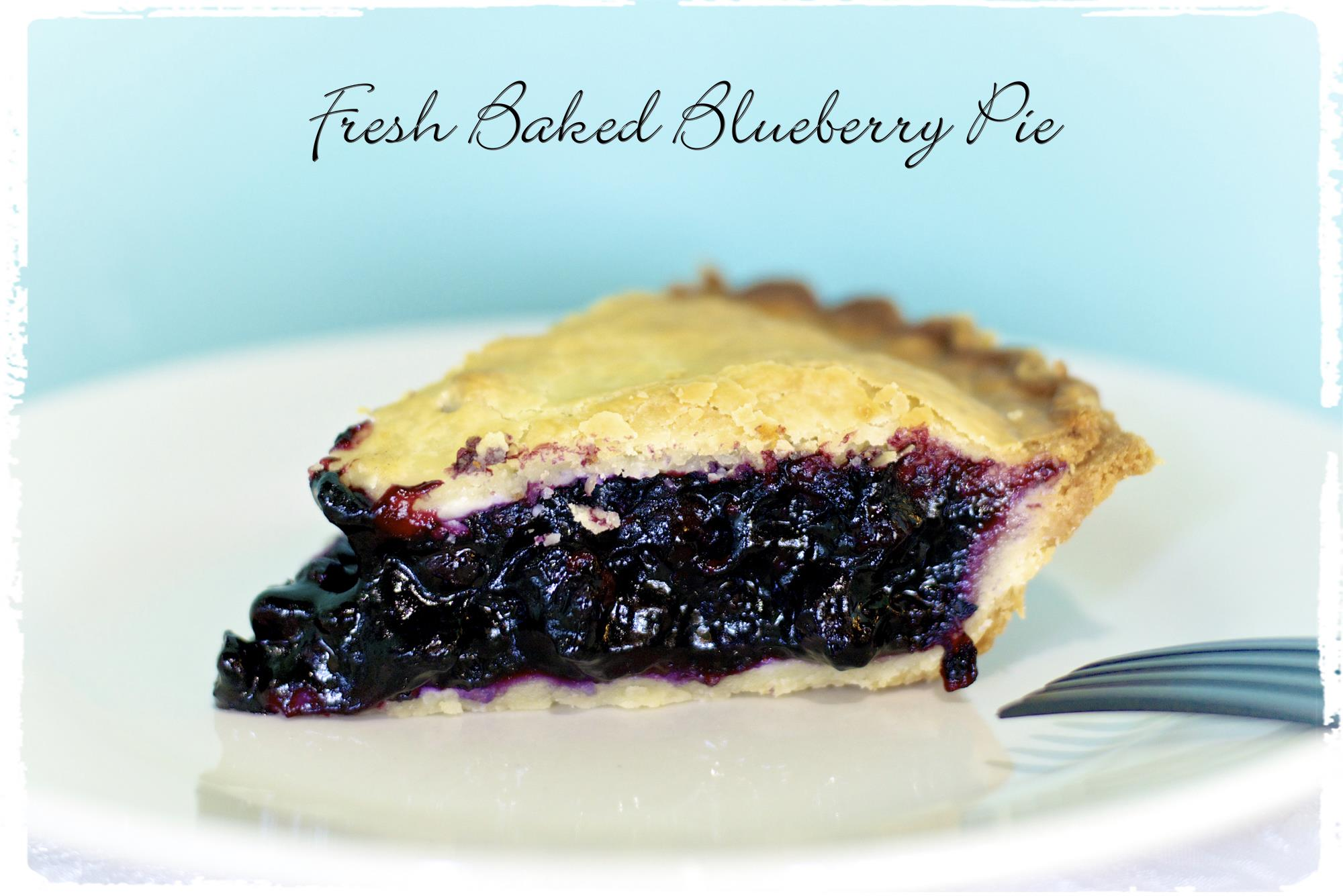 Fresh Baked Blueberry Pie