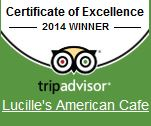 Certificate of Excellence 2014 winner. TripAdvisor
