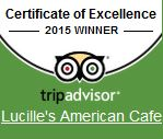 Certificate of Excellence 2015 winner. TripAdvisor