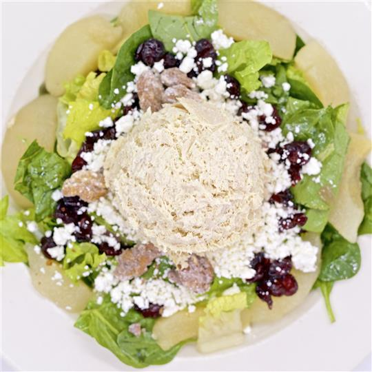 Salad topped with Feta Cheese