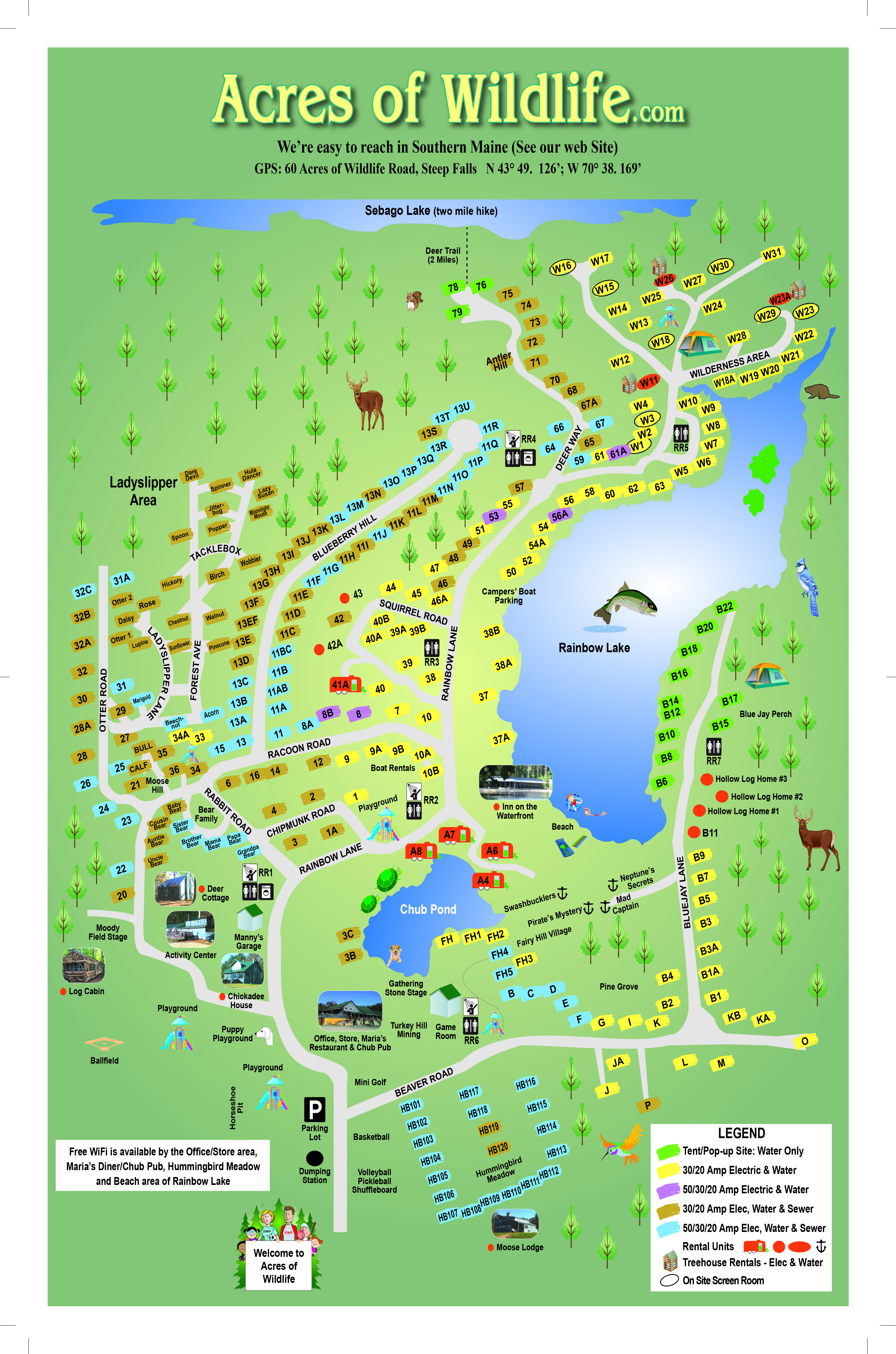 Acres Of Wildlife Campgrounds A Campers Paradise In Southern - Norway maine map