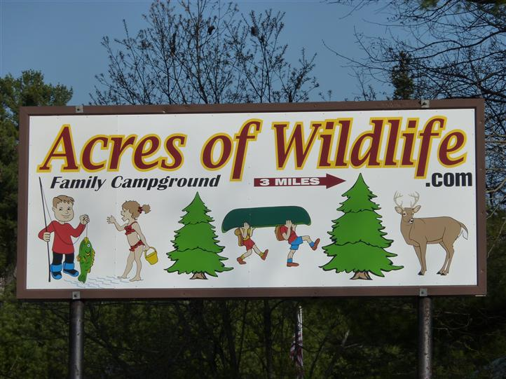Acres new sign