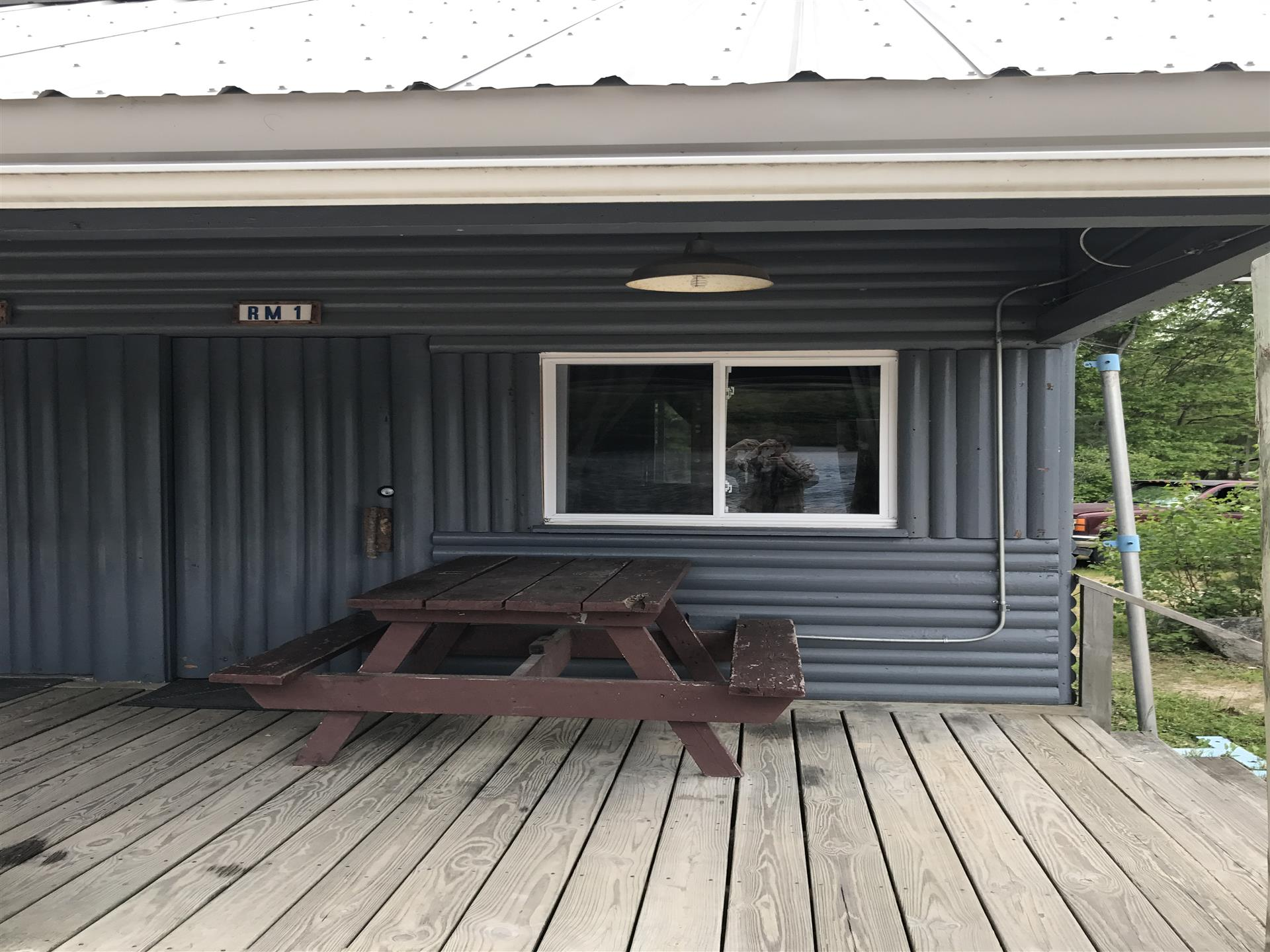 exterior of the suite showcasing the front porch