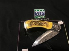 #24 Wolf engraved knife handle (3)