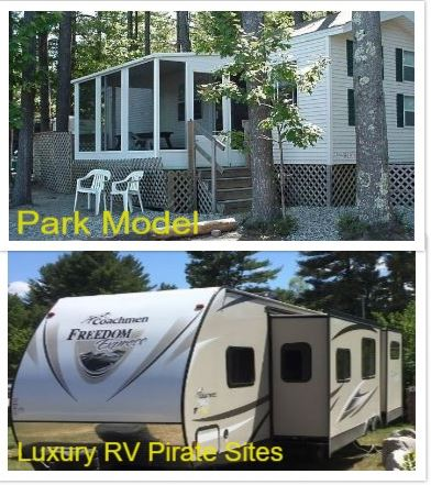 Park Model Rental & Luxury RV Pirate Sites