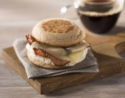 Bacon, Egg & Cheese on an English Muffin
