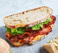 BLT sandwich on Fresh baked bread Toasted