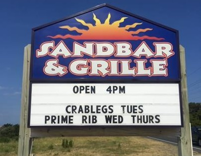 Sand Bar and Grill Sign