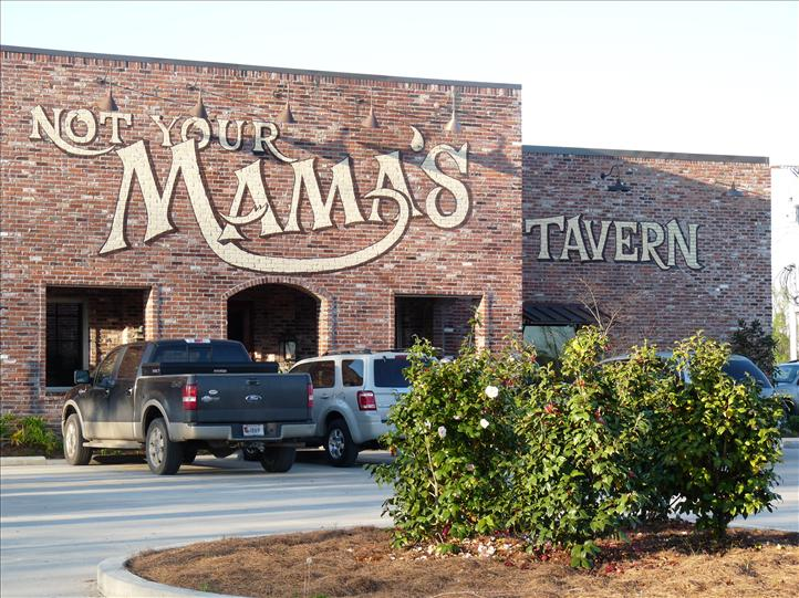 Not Your Mama's front entrance with sign