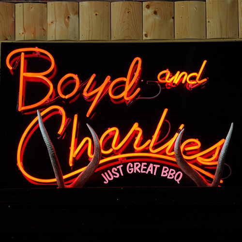 Boyd and Charlie's Neon Sign