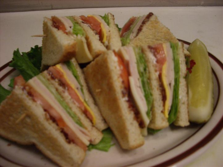 plate of finger sandwiches