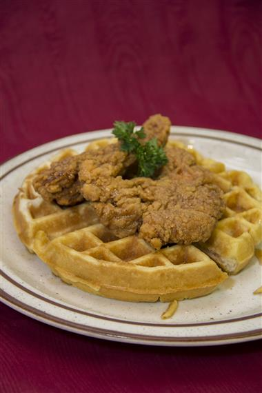 chicken with waffles