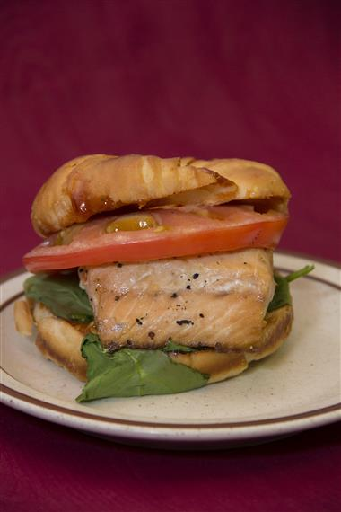 front shot of a grilled chicken sandwich