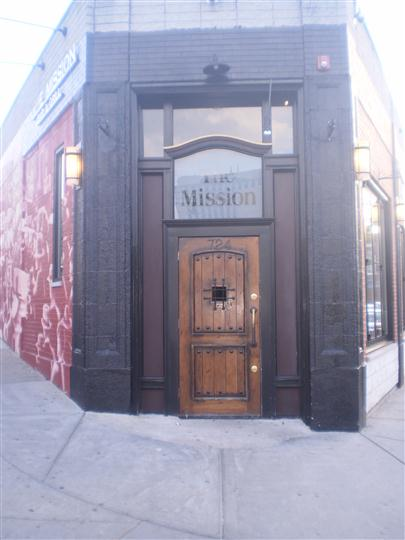 Outdoor photo of the bar entrance