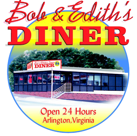 Bob & Edith's Diner. Open 24 hours. Arlington, Virginia.