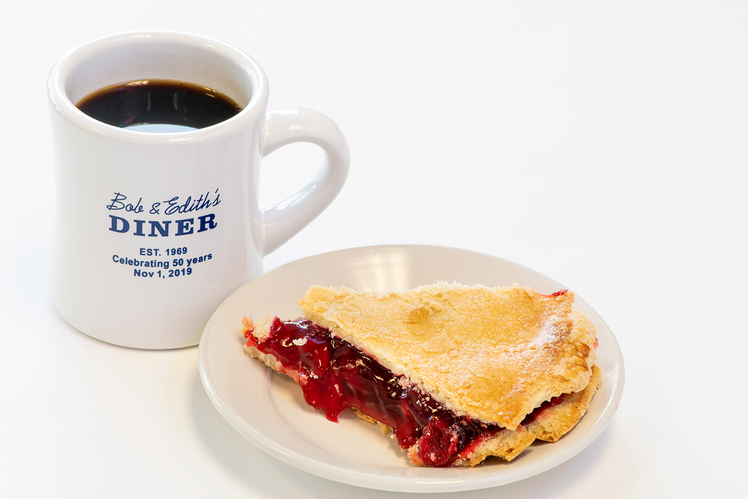 Cherry Pie and coffe