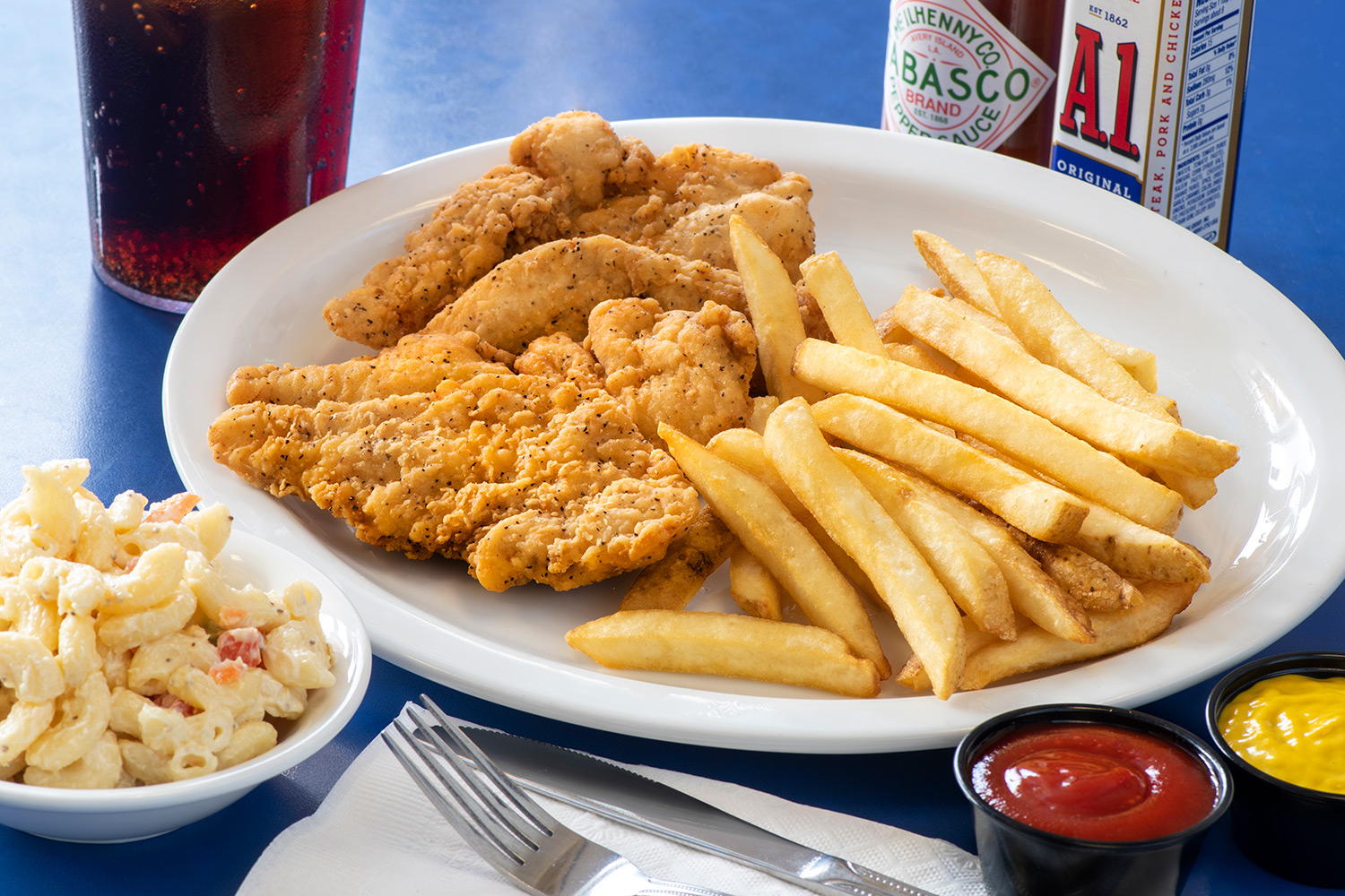 Chicken Tenders with french fries