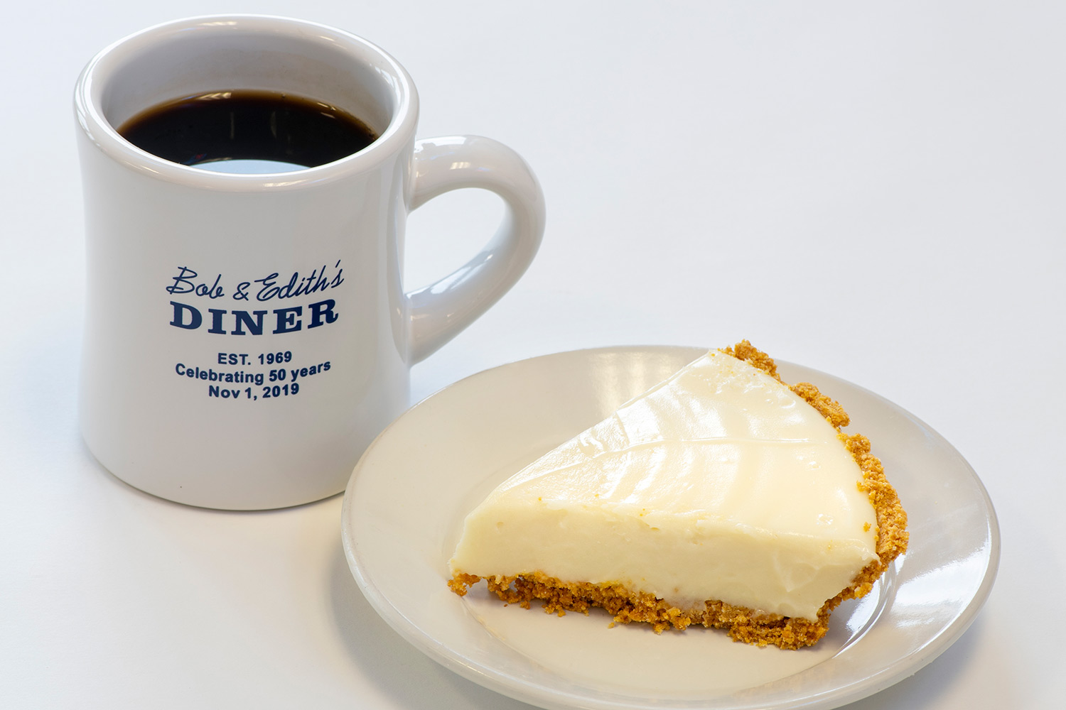 Key Lime Pie with coffee