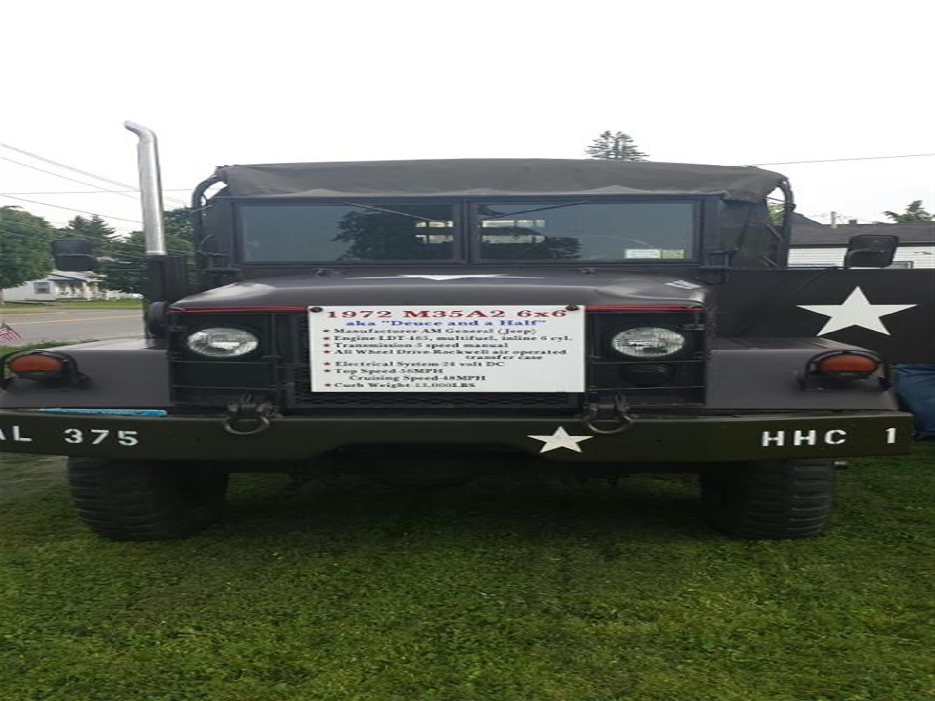 Military vehicle closeup