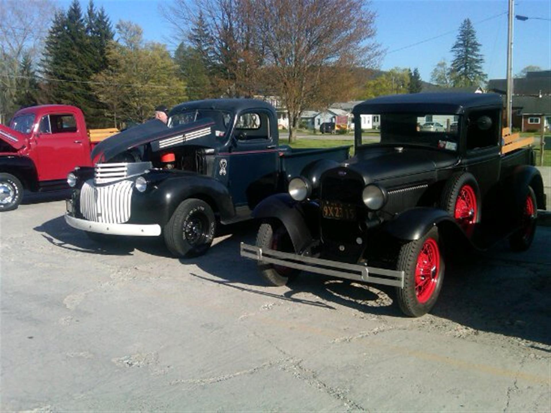 Three vintage cars