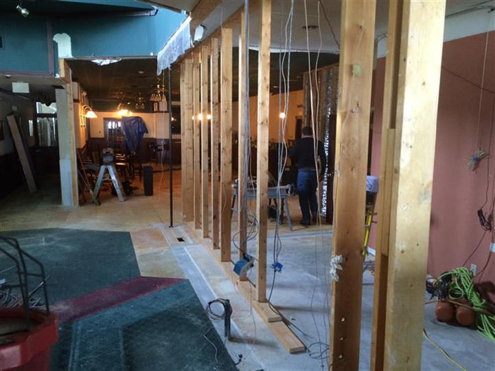 Image from remodeling, building new walls.