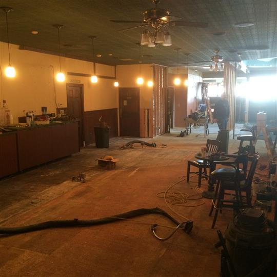 Image from remodeling of the dining room area.