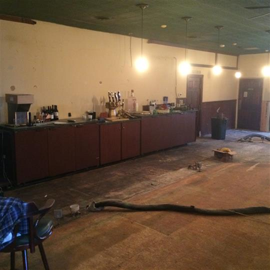 Remodeling the inside of the restaurant.