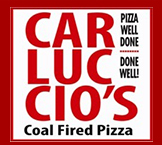 Carluccio's Coal Fired Pizza. Pizza well done. Done Well.