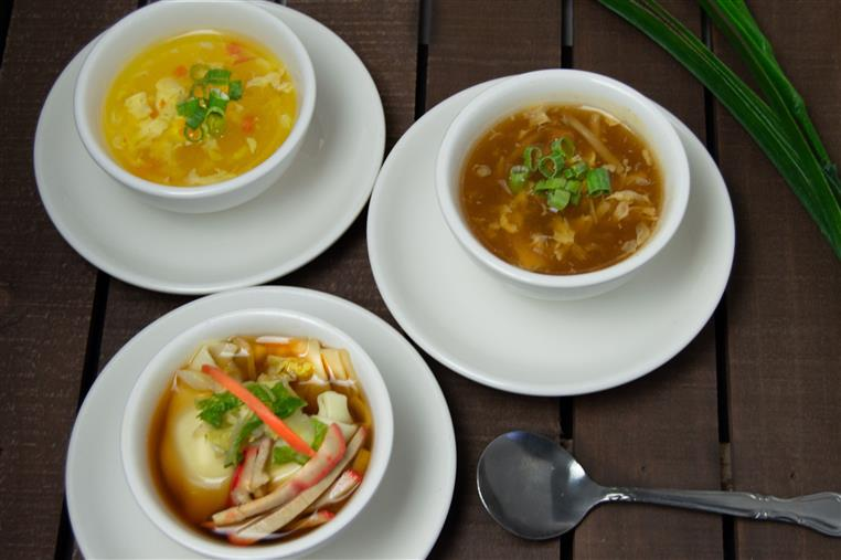various types of soups