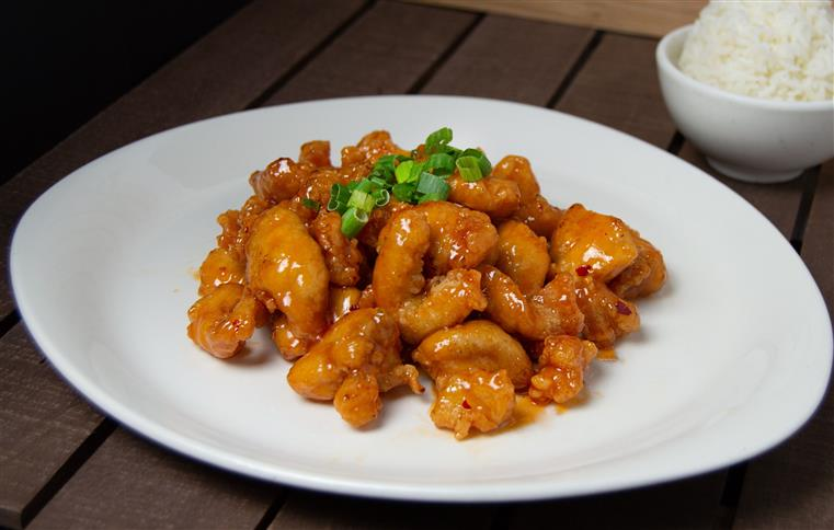 spicy chicken with scallions