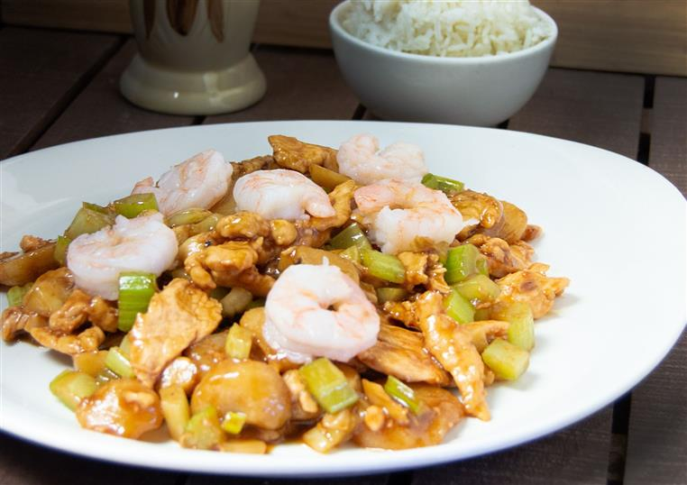 shrimp dish with vegetables