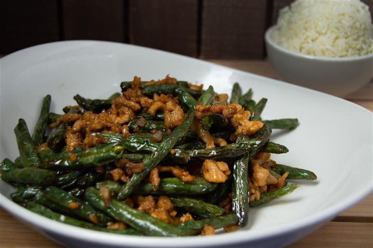 spicy crunchy green beans
