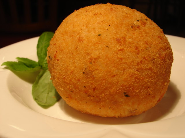 Fried rice ball