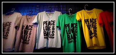 """Peace Love & Balls"" T-Shirts"