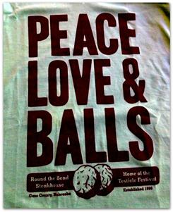 """Peace Love & Balls"" T-Shirt"