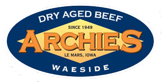 Archies Waeside. Le Mars, Iowa. Since 1949. Dry Aged Beef.