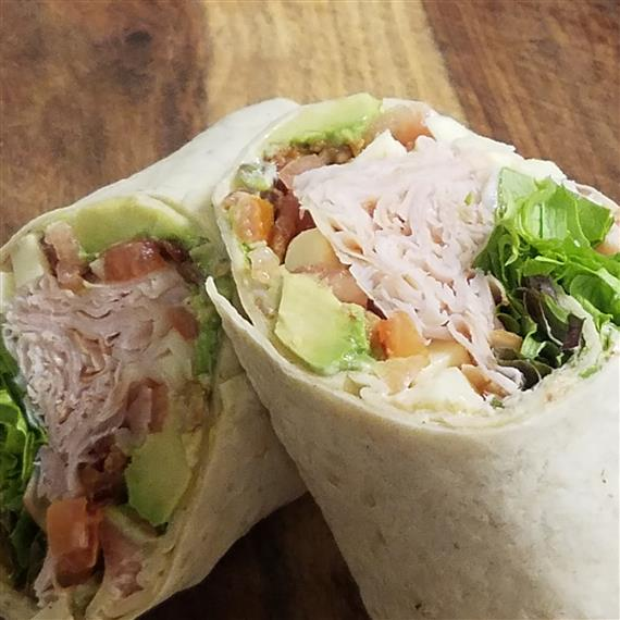 Turkey avocado bacon wrap