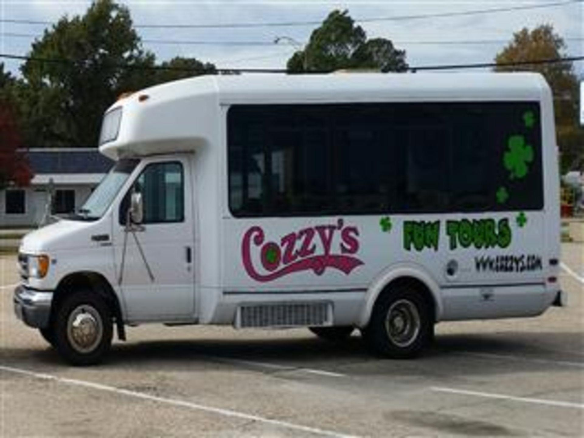 Cozzy's branded comedy tour bus