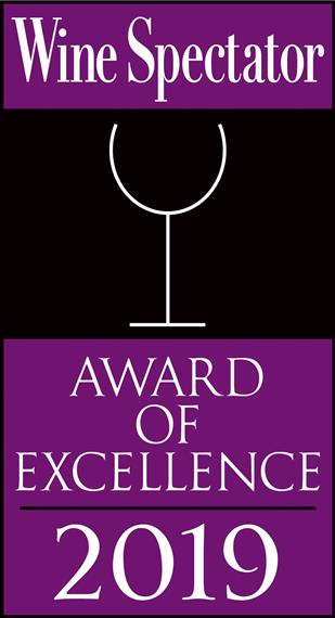 Wine Spectator. Award of Excellence 2019