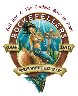 Rockefellers Raw Bar. North Myrtle Beach, South Carolina. Full bar and the coldest beer in town.
