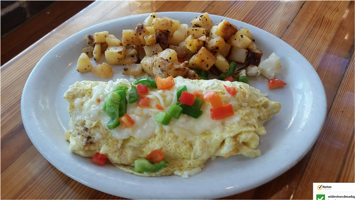 egg omelette with peppers and potatoes