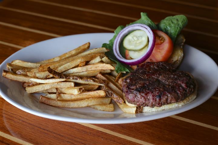 Steak Burger - Half a pound of hand pattied Certified Angus Beef® charcoal grilled to order