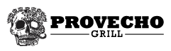 Provecho Grill Logo with skull