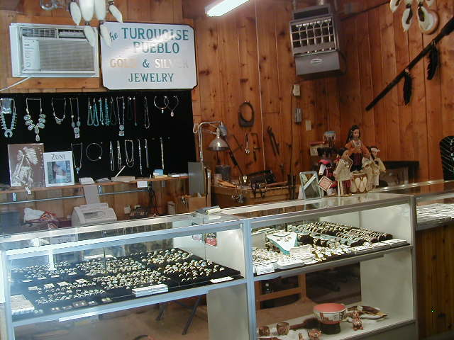 jewlery shop with a showcase full of various jewlery such as rings and bracelets