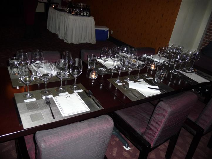 view of empty table set