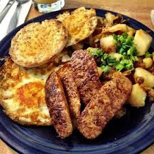 grilled chicken, roasted potatoes, toast