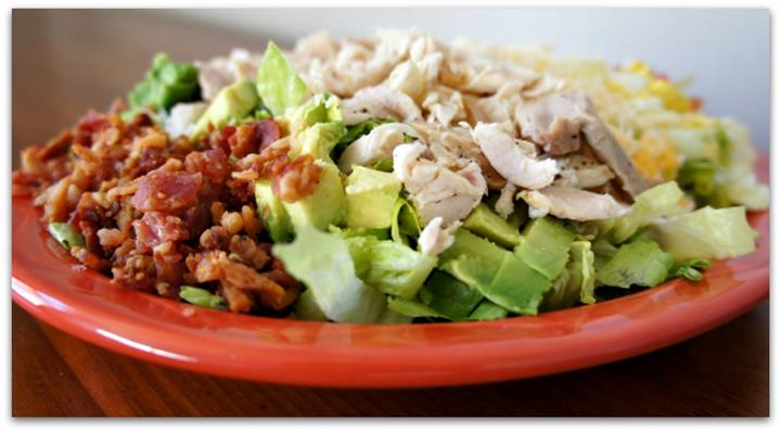 diced chicken and sliced guacamole
