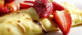 breakfast tart topped with strawberries
