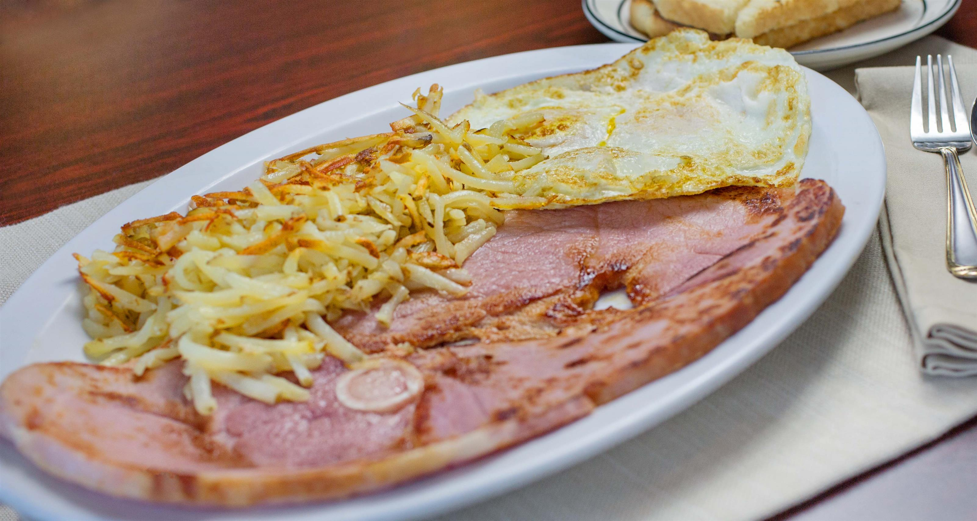 baked ham with hashbrowns